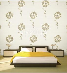 giấy dán tường phòng ngủ hoa rơi