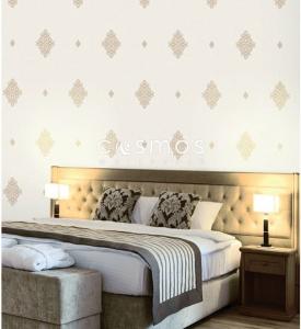 giấy dán tường phòng ngủ tân cổ điển
