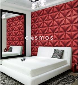 giấy dán tường phòng ngủ hoa văn ấn tượng