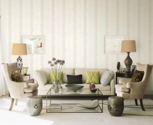 giấy dán tường phòng khách sọc đứng