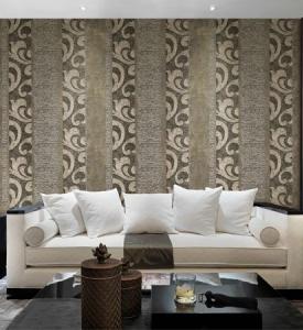 giấy dán tường phòng khách sọc cổ điển