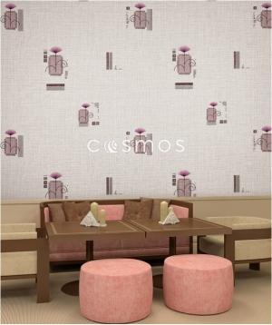 giấy dán tường phòng khách tím nhạt
