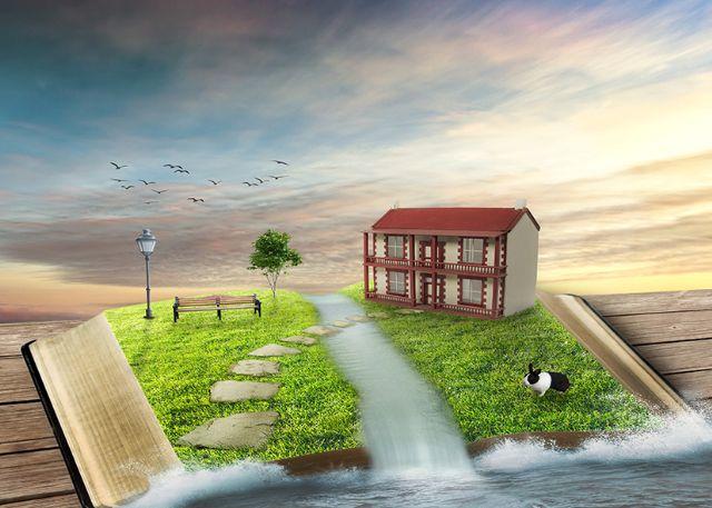 tranh dán tường phong cảnh 95