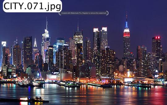 tranh dán tường thành phố 04