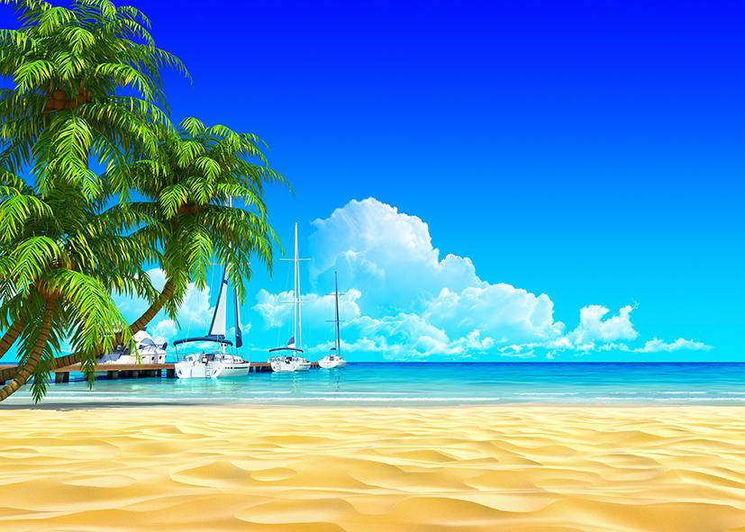 tranh dán tường cảnh biển 158