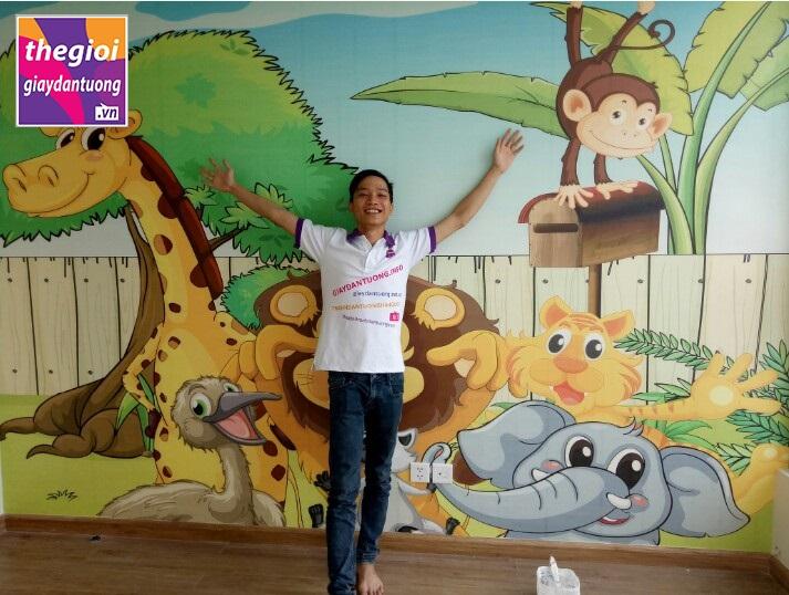 tranh dán tường trẻ em