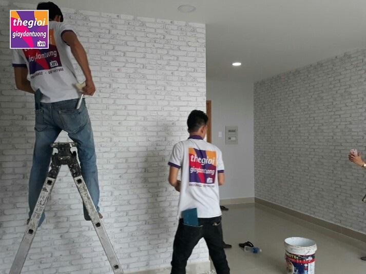 Thế Giới Giấy Dán Tường thi công căn hộ Him Lam – Quận 6 TPHCM